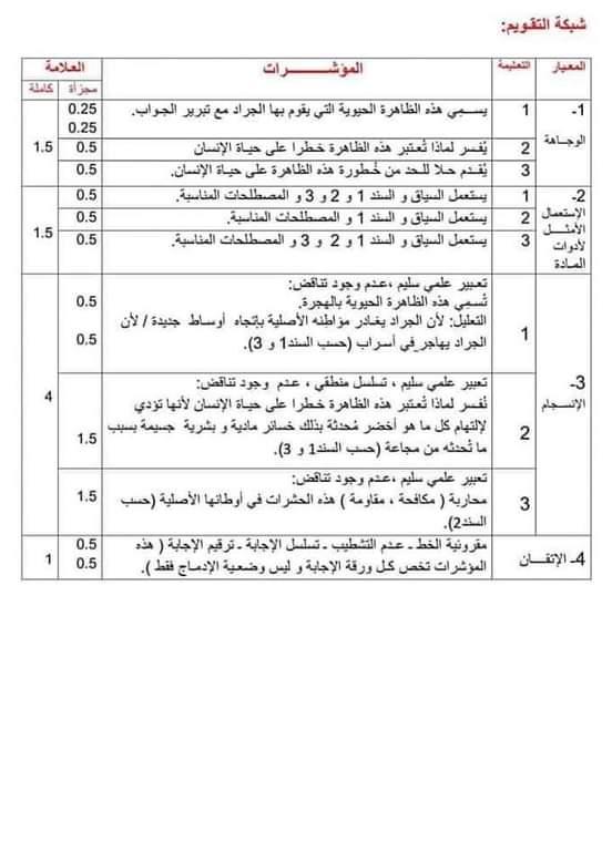 اختبارات الفصل الأول في مادة العلوم الطبيعية للسنة الثانية متوسط مع الحل - الموضوع 02