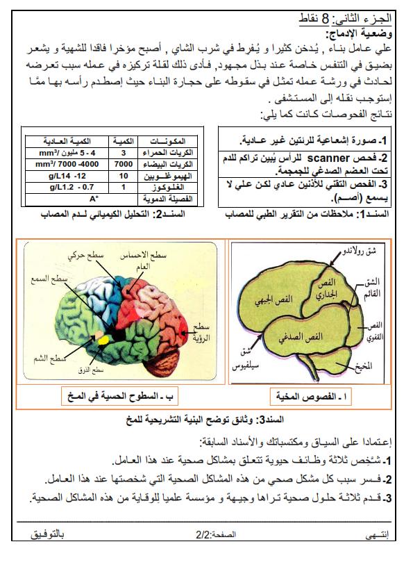 اختبارات الفصل الأول في مادة العلوم الطبيعية السنة الرابعة متوسط مع الحل - الموضوع 04